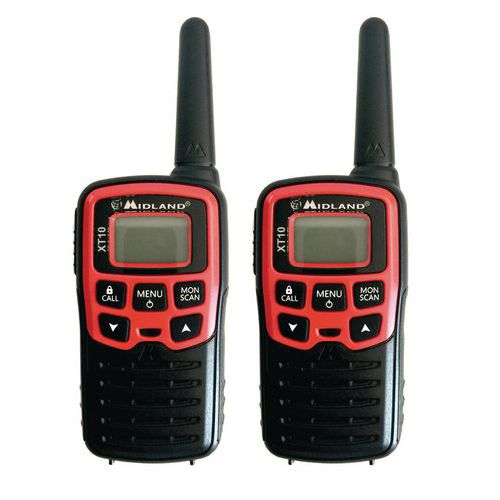 Talkie walkie - Midland - XT-10 - rouge