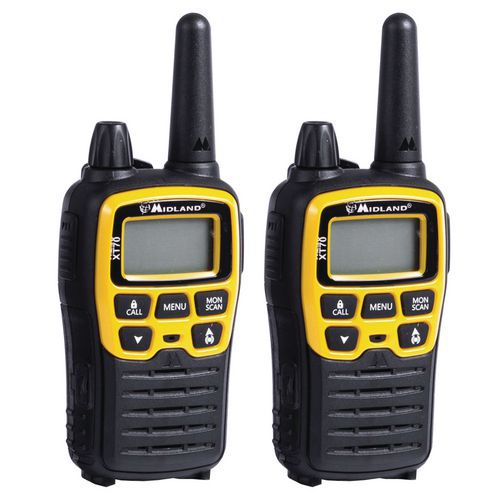 Talkie walkie - Midland - XT-70 Adventure - jaune