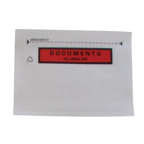 Pochette porte-documents Pac-List renforcée - « Document ci-inclus »
