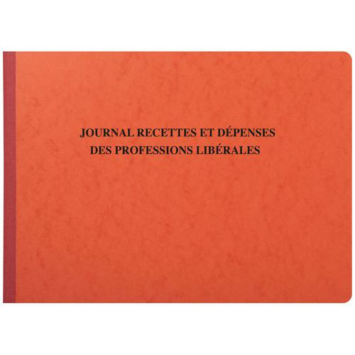 Journal des recettes et dépenses des professions libérales 27 x 38 cm - 80 pages
