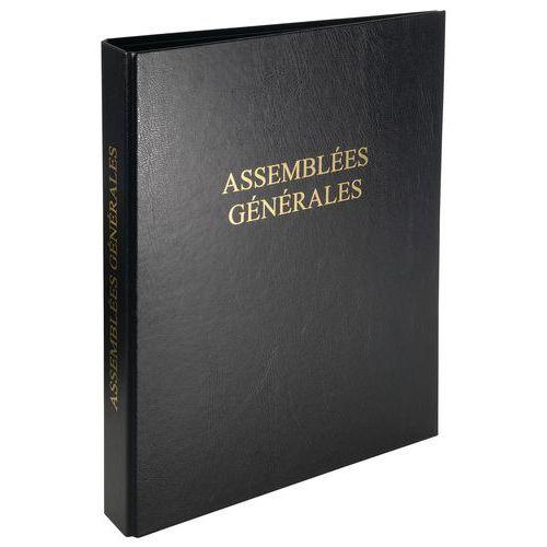 Registre économique 32 x 26 cm 4 anneaux avec recharge de 100 feuillets - Assemblée générale