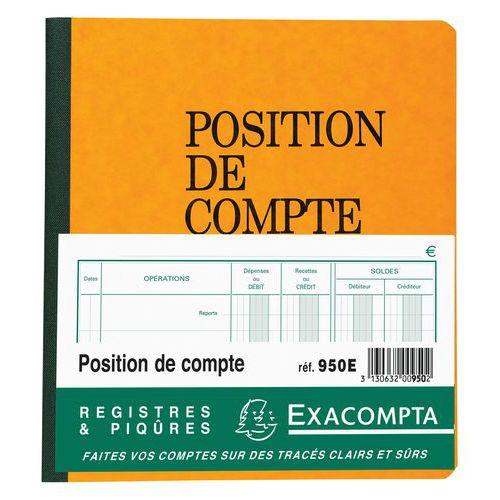 Registre piqûre position de compte 21 x 19 cm - 80 pages