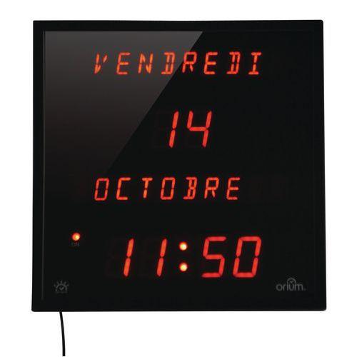 Horloge à date digitale multi-langues Orium