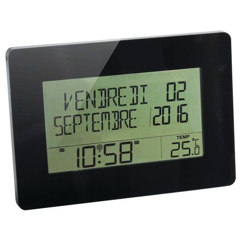 Horloge calendrier radio contrôlée Memento Orium