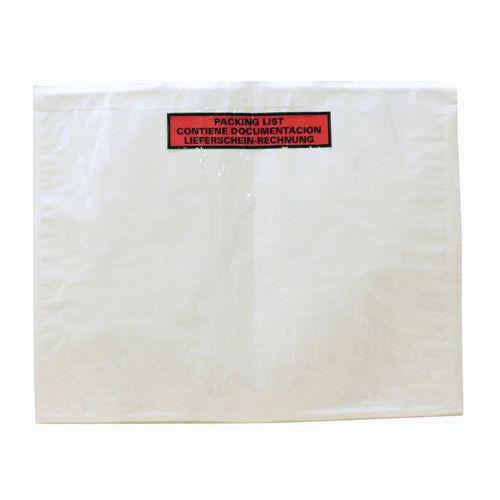 Pochette porte-documents Éco-List - « Packing list - Contiene documentacion - Lieferschein rechnung »