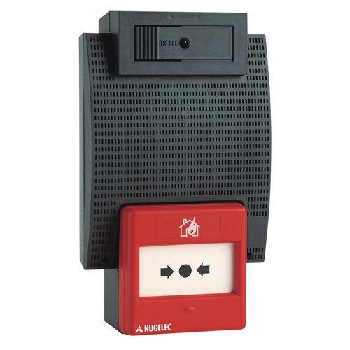 Coffret d'alarme incendie à pile
