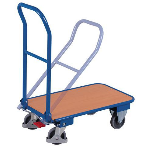 Chariot /à dossier rabattable-Capacit/é 150 kg