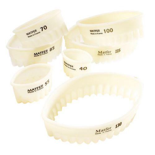 Boîte de 7 découpoirs ovales cannelés Exoglass®