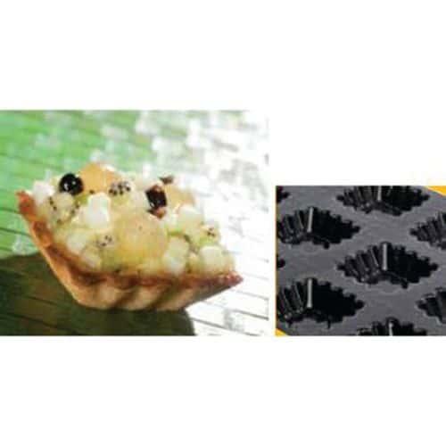 Moule forme Tartelettes carrées cannelées_Matfer