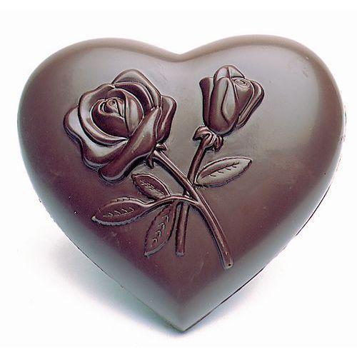 Moule forme Coeurs décoré fleurs
