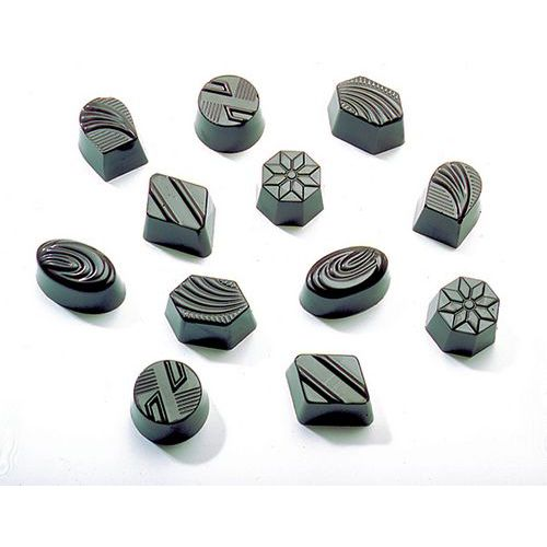 Moule de chocolats ronds, ovales, losages assortiment de 36 empreintes