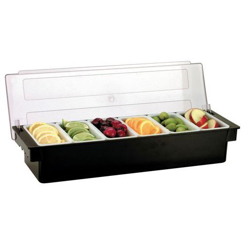 Boîte à condiments 6 compartiments