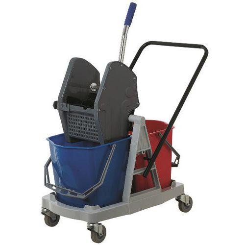 Chariot de lavage des sols et presse