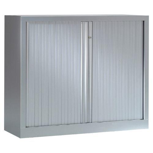 Armoire métal à rideaux Luxe préhension totale longueur 120cm