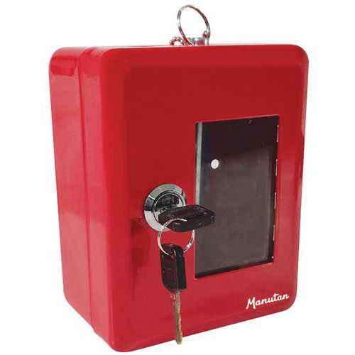 Boîte à clé de secours rouge - Manutan