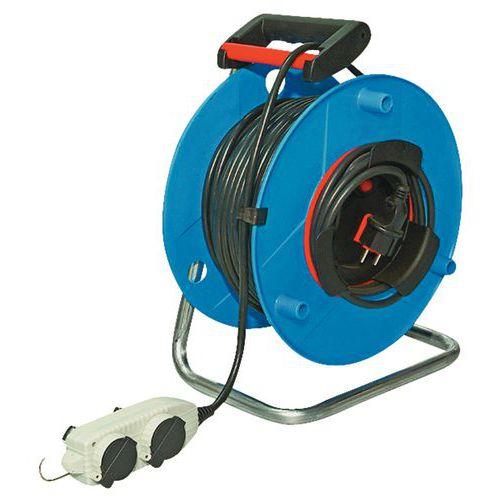 Enrouleur de c ble lectrique t te mobile 40 m - Enrouleur cable electrique ...