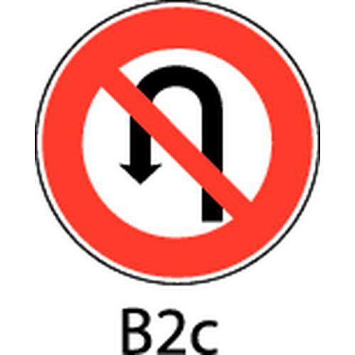 panneau de signalisation b2c interdiction de faire demi tour. Black Bedroom Furniture Sets. Home Design Ideas
