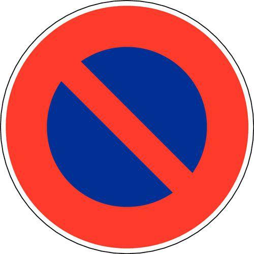 Panneau De Signalisation B6a1 Stationnement Interdit