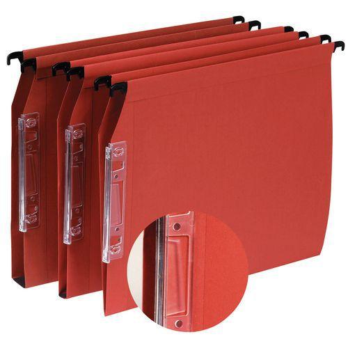 Dossier suspendu kraft à volets d'agrafage budget - Pour armoire et tiroir - Fond V