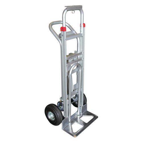 Diable chariot combiné 250kg et 350kg - 3 positions - Roues pneumatiques