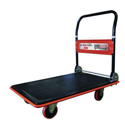 Chariot acier à dossier rabattable - Capacité 150 et 300 kg