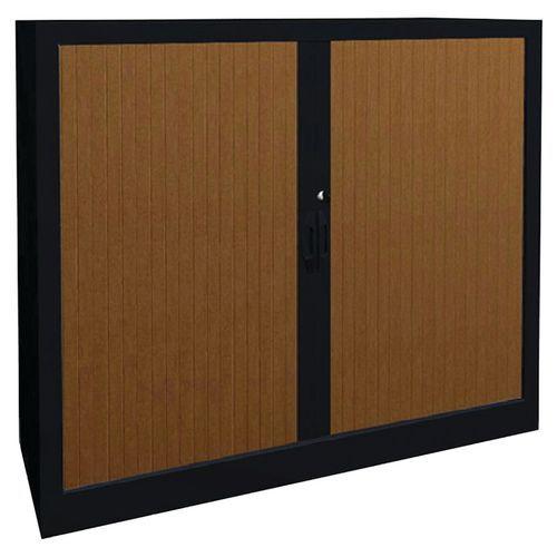 Armoire métal classique à rideaux PVC hauteur 102cm