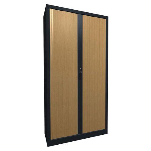 Armoire métal à rideaux PVC à lame recouverte hauteur 198cm