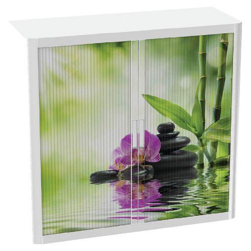 Armoire à rideaux avec décor Easy Office