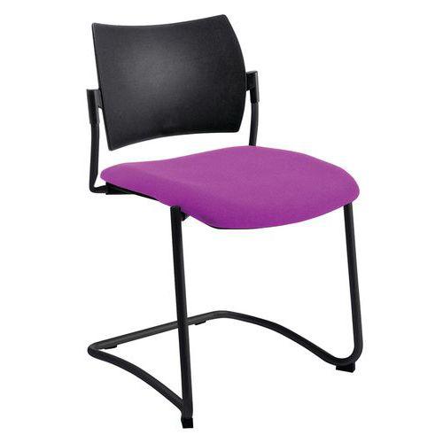 Chaise piètement noir Luge