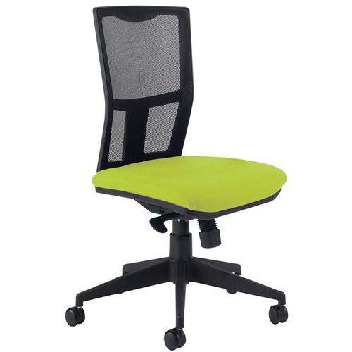 Chaise de bureau avec dossier noir - Manutan