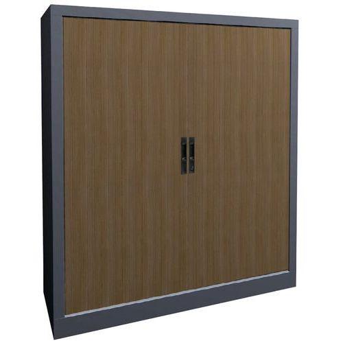 Armoire métal à rideaux PVC à lame recouverte hauteur 135cm