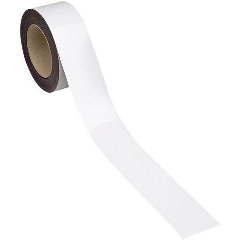 Bande magnétique effaçable pour marquage - 10 m - Blanc