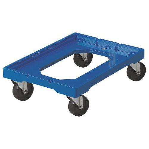 plateau roulant plastique 250 kg pour bacs norme europe manu. Black Bedroom Furniture Sets. Home Design Ideas