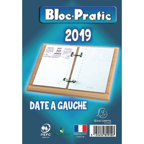 Bloc éphéméride Bloc-Pratic - Année 2019 - Date à  gauche