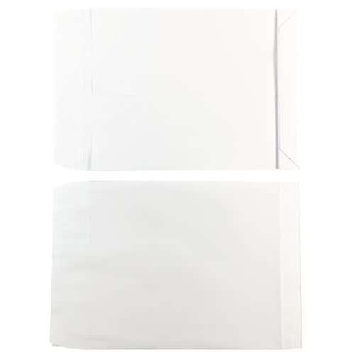 Pochette kraft blanc 120 g - 3 soufflets de 3 cm