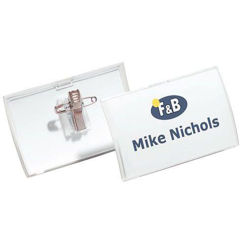 Porte-badge Clik Fold - Avec pince combi