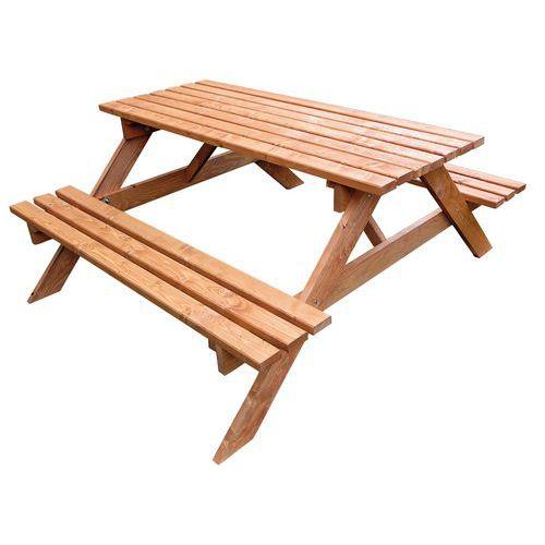 Tables de pique nique en bois Manutan