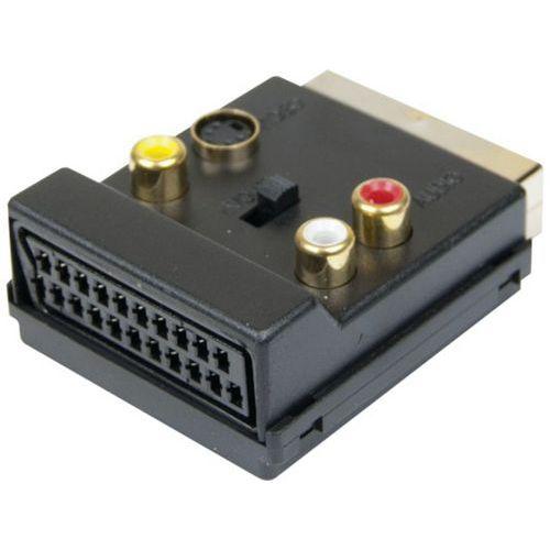 Adaptateur péritel Male/Femelle 3xRCA et S-Video
