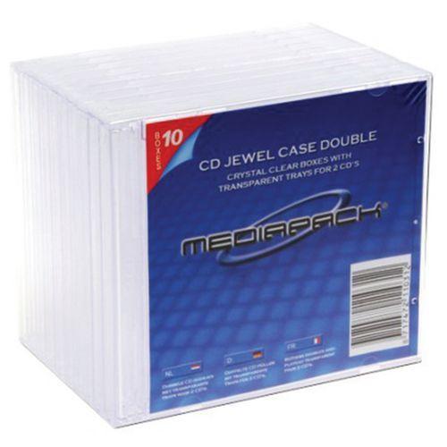 Boitiers cd jewelbox std 2 cd transparents