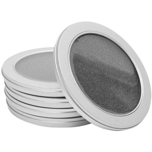 Boitiers metal rond avec fenetre pour 1 cd