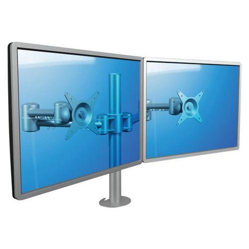 Bras à fixer / pincer Viewmate 52632 - 2 écrans