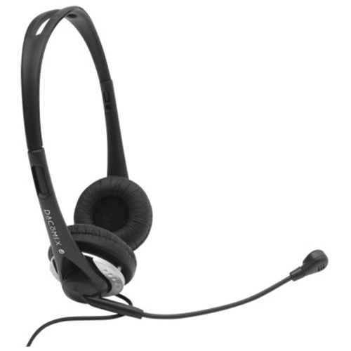 Casque-Micro Stéréo Ajustable Jack 3.5 mm noir/gris