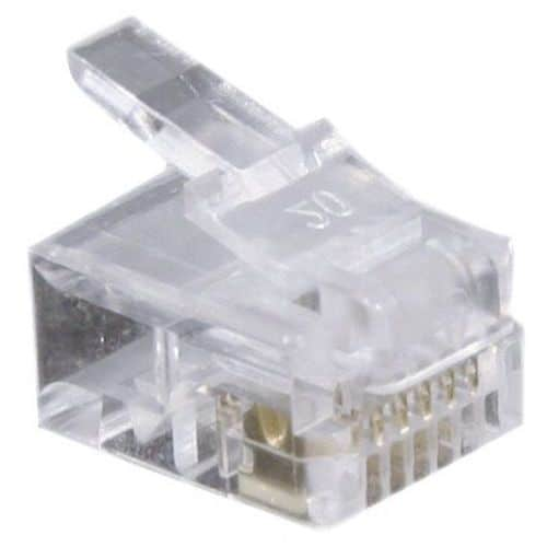 Connecteur 6/6 RJ12 (par 1000)