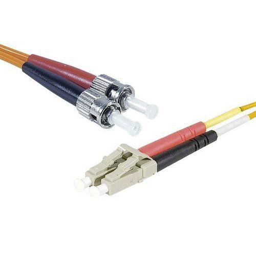 Jarretière duplex multi OM1 62,5/125 LC-UPC/ST-UPC 1 m