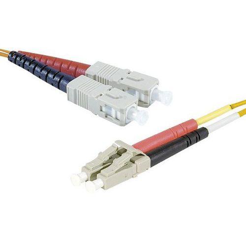 Jarretière duplex multi OM2 50/125 SC-UPC/LC-UPC orange 20 m