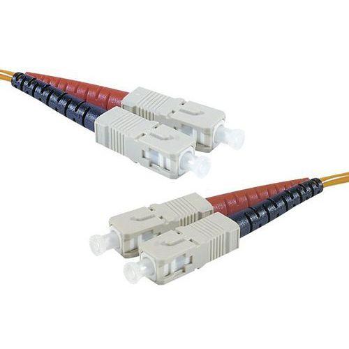 Jarretière duplex multi OM3 50/125 SC-UPC/SC-UPC aqua - 20 m
