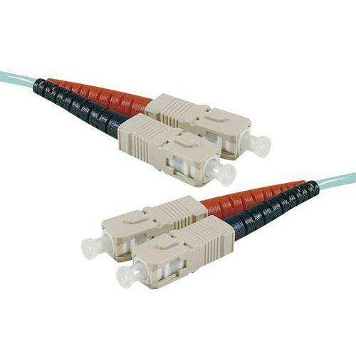 Jarretière duplex multi OM3 50/125 SC-UPC/SC-UPC aqua - 30 m