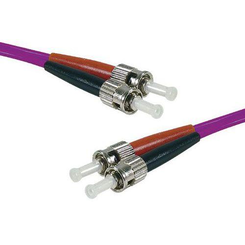 Jarretière duplex multi OM3 50/125 ST-UPC/ST-UPC violet 15 m