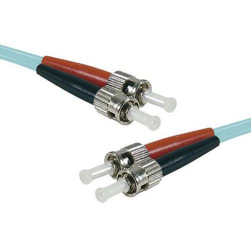 Jarretière duplex multi OM3 50/125 ST-UPC/ST-UPC aqua -0,5 m