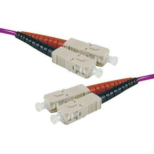 Jarretière duplex multi OM4 50/125 SC-UPC/SC-UPC erika -15 m